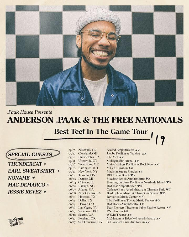 Best Teef In The Game Tour feat Anderson.Paak